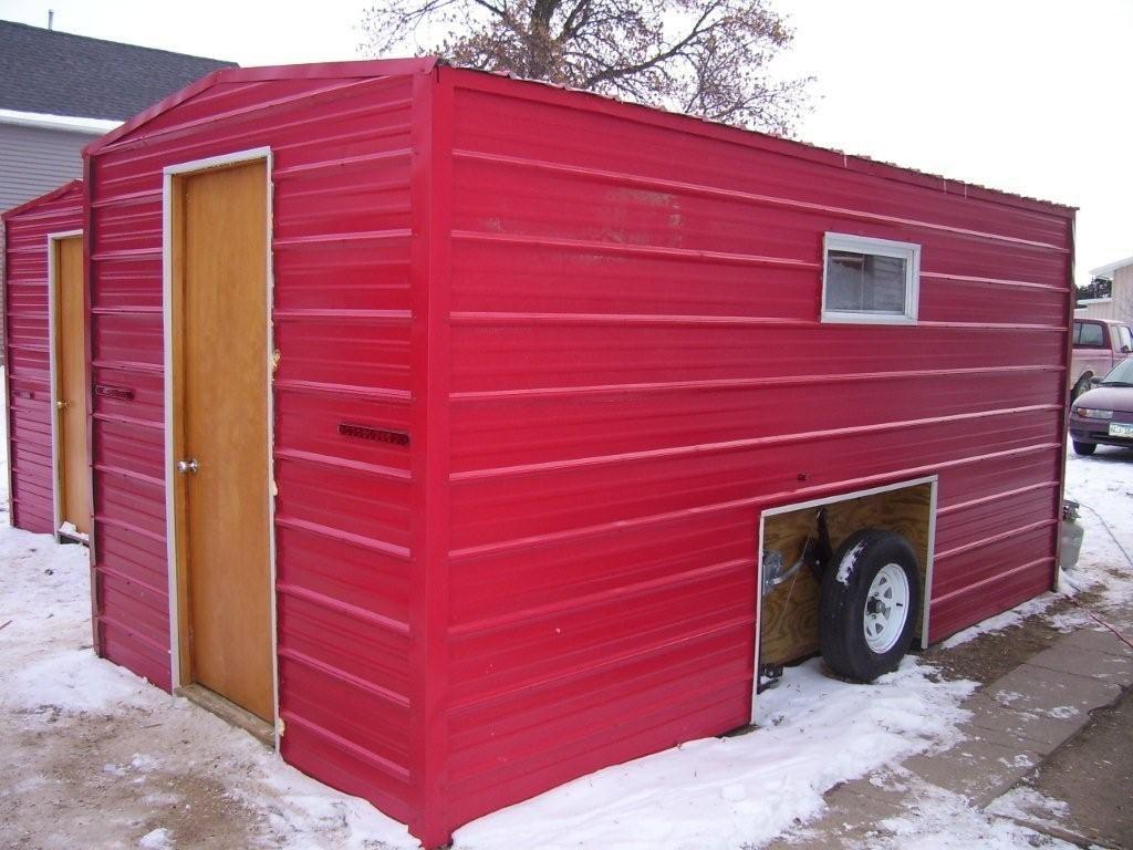 Modern ice fishing shacks for rent tiny for Ice fishing shacks