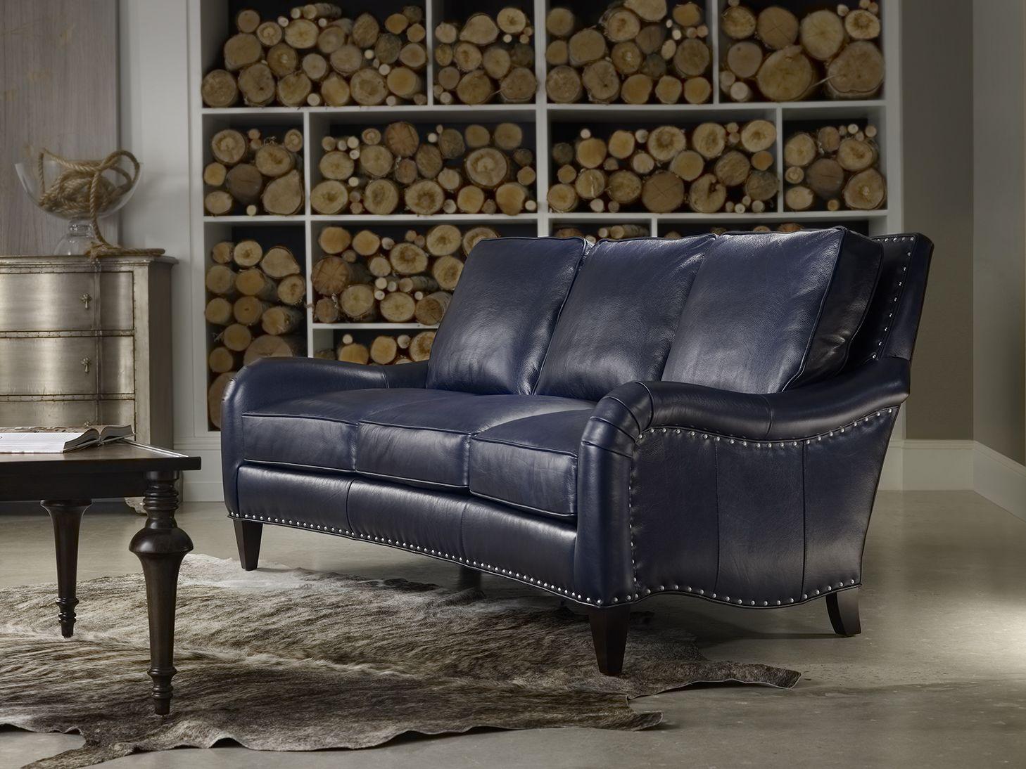 Best Feeling Blue Bradington Young Barth Sofa In Cobalt 400 x 300