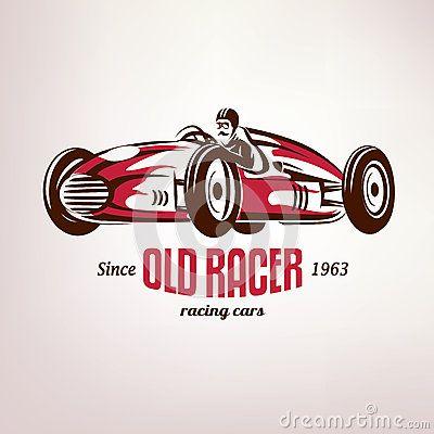 43++ Vintage race car clipart info