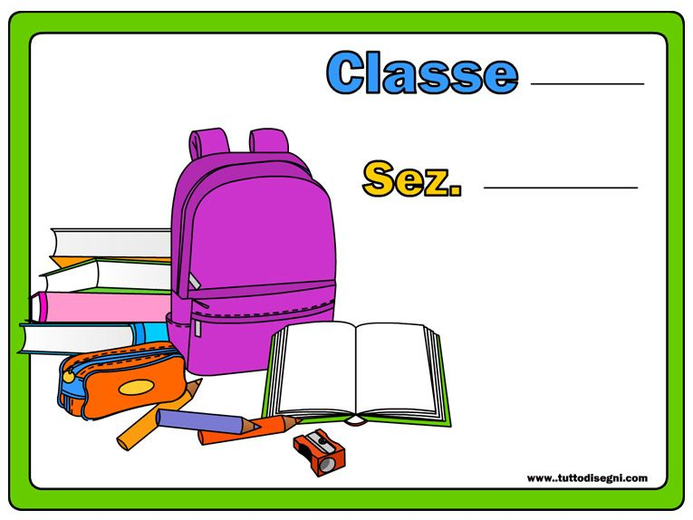 Cartello per la porta dell aula di scuola teaching for Addobbare la porta dell aula