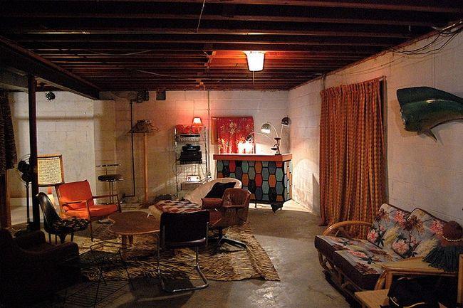 unfinished basement ideas on budget recipes pinterest basements budgeting and basement. Black Bedroom Furniture Sets. Home Design Ideas