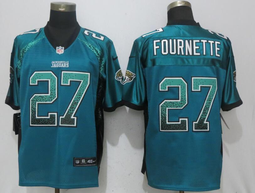 Men Jacksonville Jaguars 27 Fournette Drift Fashion Green Nike Elite NFL  Jerseys b822d4cd7