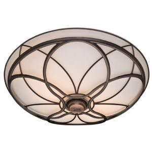 Orleans Decorative 70 Cfm Ceiling Exhaust Bath Fan With Ornate Imperial Bronze Cast Design Over Cased