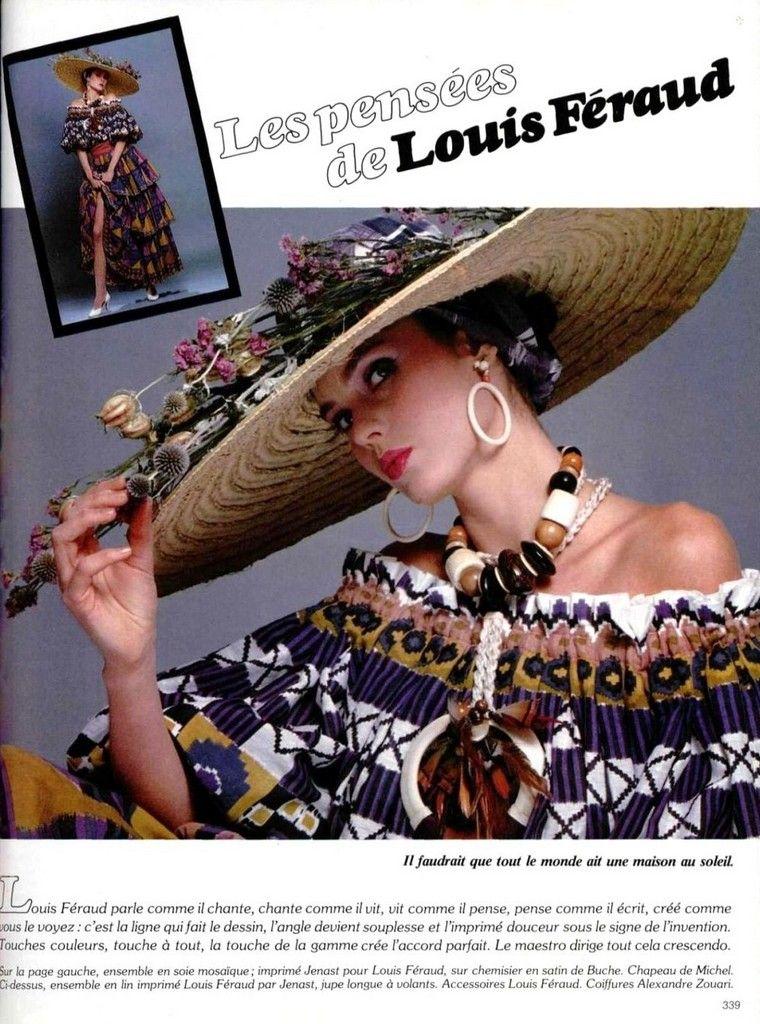 Louis Feraud 1980s | Мода, Модели и Французские дома