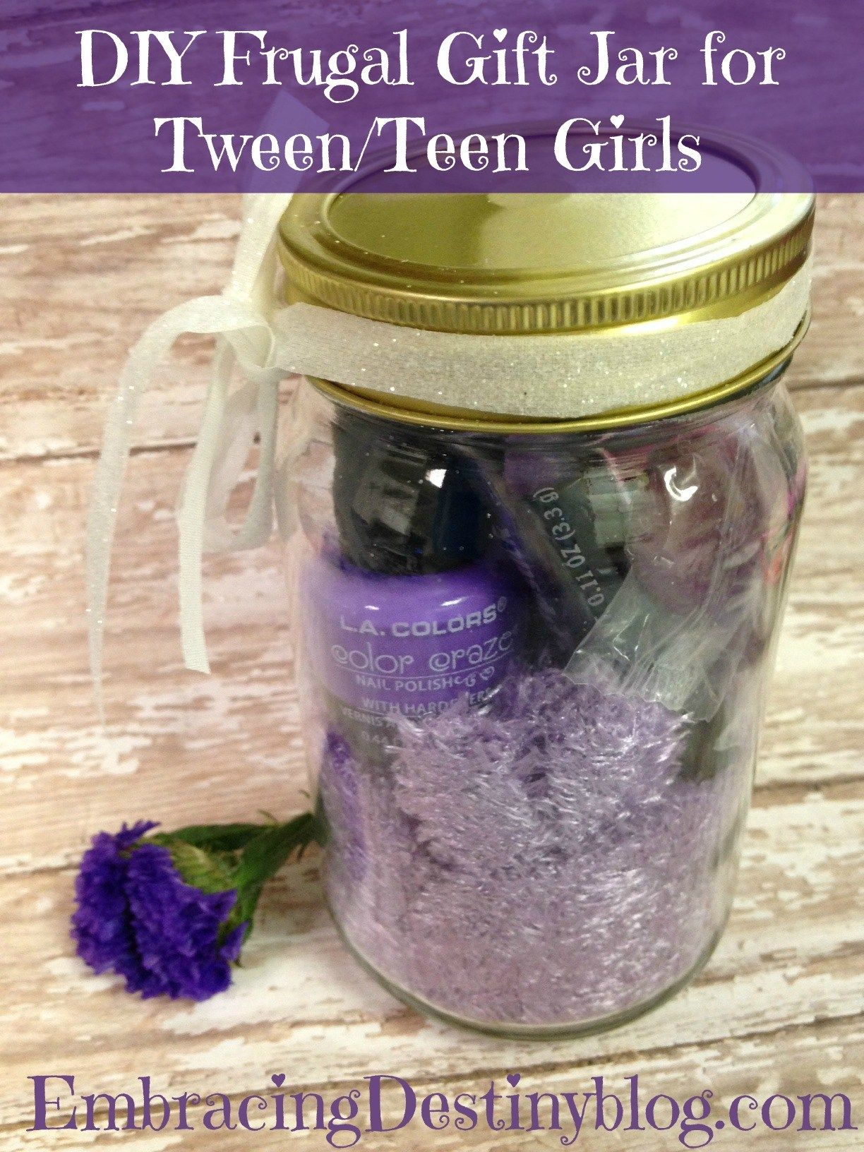 Frugal diy gift jar for tween or teen girls gifts pinterest