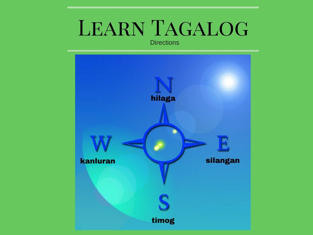 North South East And West In Tagalog Tagalog Philippine Map