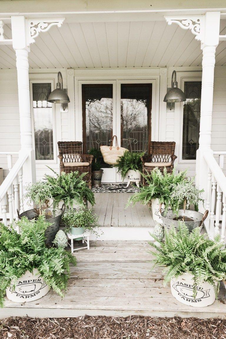 Spring Porch Steps Front Porch Flowers Porch Flowers Spring Porch Decor