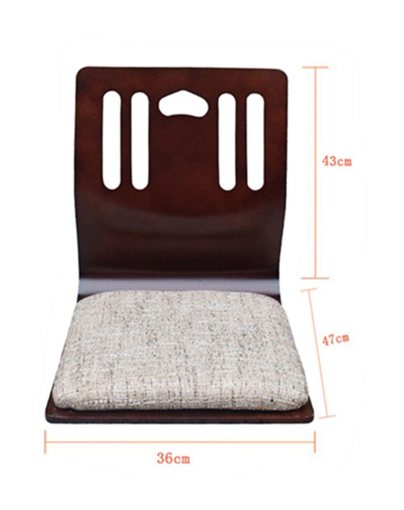 4pcs Lot Floor Anese Chairs Mahogany Finish Living Room Furniture Sitting Chair Tatami Zaisu Legless Wholes