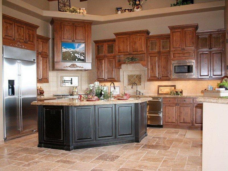 Kitchen Color Ideas Oak Cabinets Black Island Kitchen Color Choose Cabinetry Kitchen Island Upper Cherry Cabinets Kitchen Custom Kitchen Cabinets Kitchen Paint