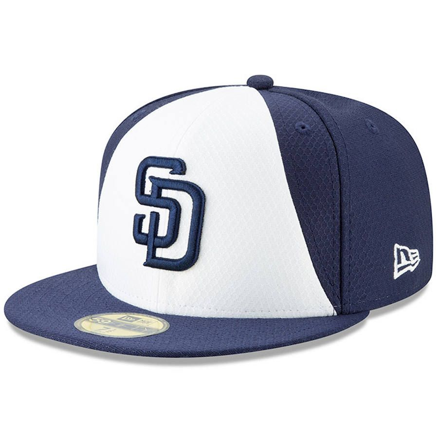 detailed look 74ed4 7c306 Men s San Diego Padres New Era Navy White 2019 Batting Practice 59FIFTY  Fitted Hat, Your Price   37.99