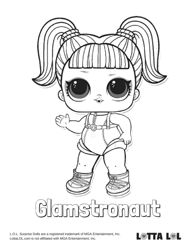 Glamstronaut Coloring Page Lotta Lol Coloring Pages Cool Coloring Pages Fnaf Coloring Pages