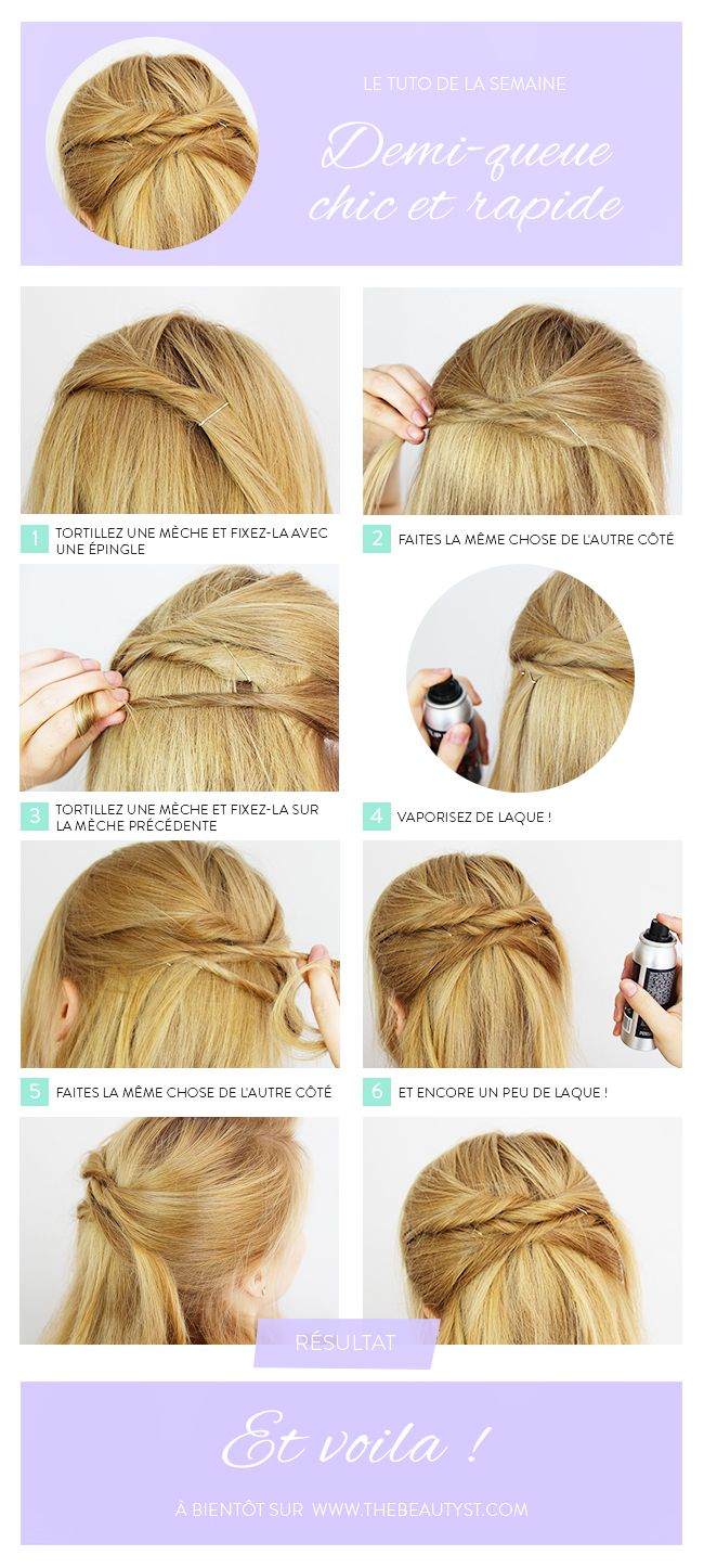 Coiffures Tuto Coiffure And Chic On Pinterest