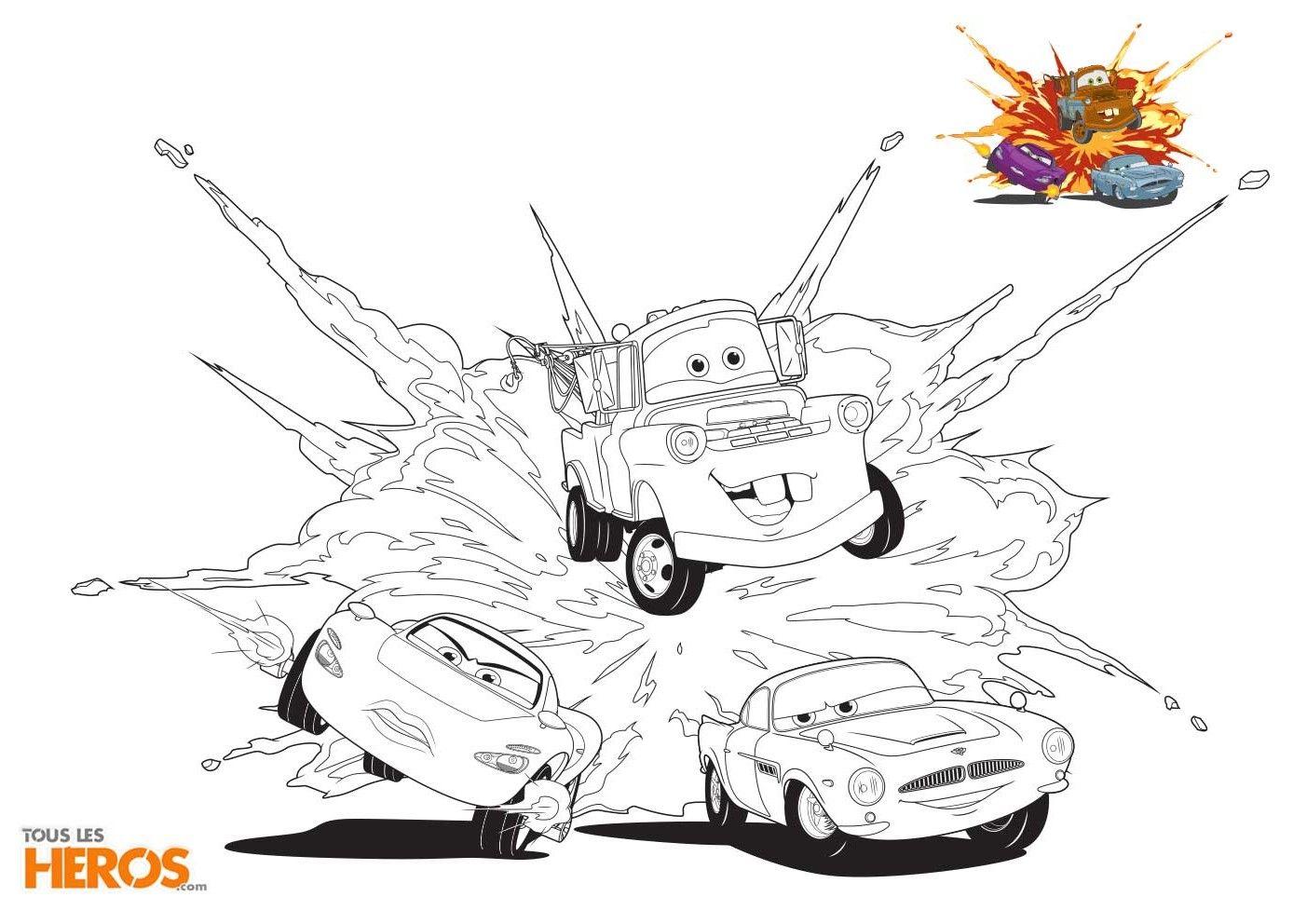 Flash Mcqueen Et Ses Copains Reviennent Sur De Nouveaux Coloriages Cars Totalement Inedits Coloriage Dessin A Colorier Disney Coloriage Disney