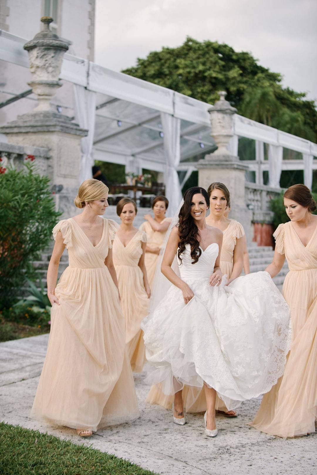 The smarter way to wed long bridesmaid dresses wedding and peach chiffon long bridesmaid dress butterfly sleeves miami wedding paul johnson ombrellifo Images