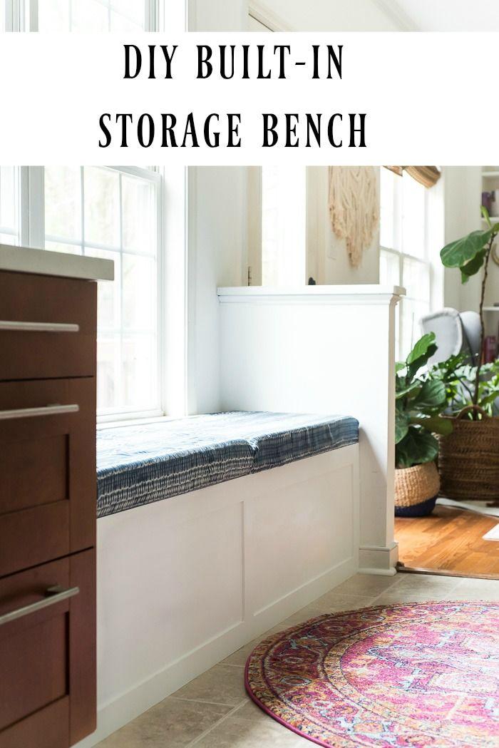Diy Built In Storage Bench Tutorial One Room Challenge Week 3 Place Of My Taste Storage Bench Seating Storage Bench Bedroom Storage Bench