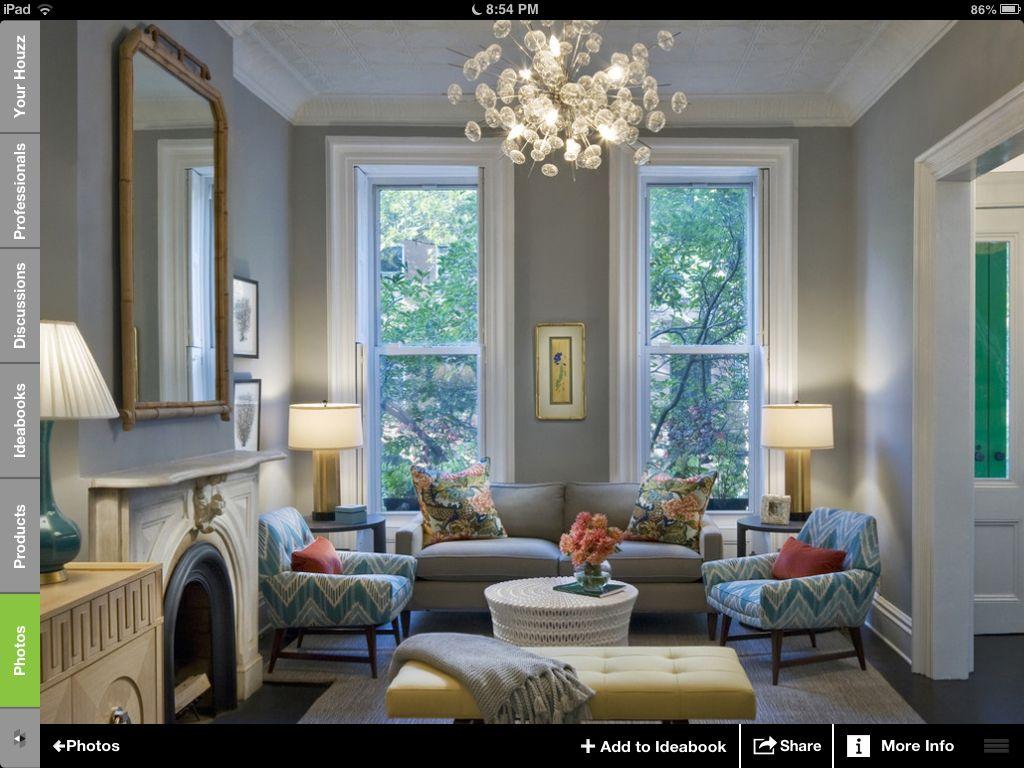 Room Frm Houzz Gray WallsLight