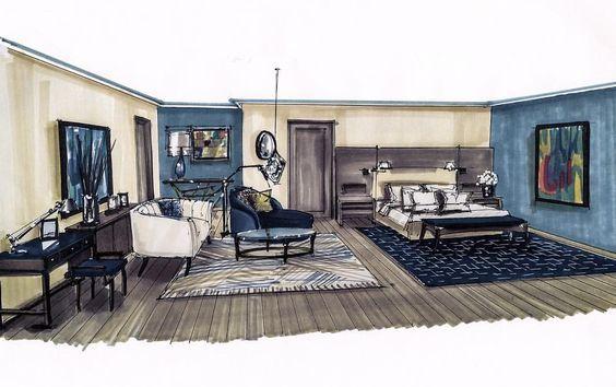 Innenarchitektur skizze  Pin von MarIka Kate auf professional Perspective & Rendering ...