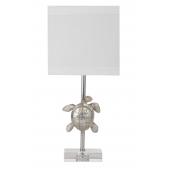 Silver Turtle Lamp, Bassett Mirror Company, Lamps Collection