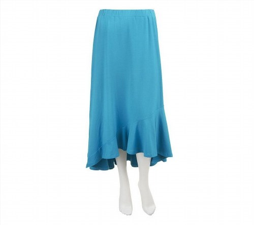 42.55$  Watch now - http://viyxx.justgood.pw/vig/item.php?t=4j93wwq14267 - Liz Claiborne NYHigh-Low Knit Maxi Skirt Dark Turquoise S NEW A234039