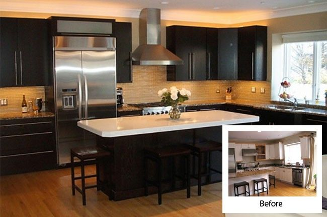 Before And After Kitchen Cabinet Refacing Modern Kitchens Refacing Kitchen Cabinets Kitchen Cabinet Remodel Kitchen Refacing