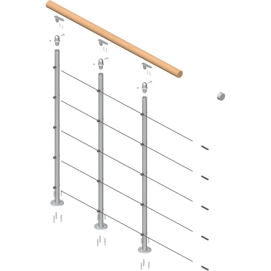 Dolle Rome Balcony Railings Continuous Pack 68371 At The Home Depot   Mobile