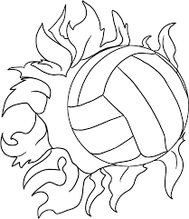 Love This Cool Volleyball Drawing Sports Coloring Pages Volleyball Drawing Volleyball
