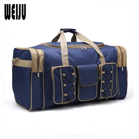 85164b80389 Vintage military Canvas Leather men travel bags Carry on Luggage bags Men  Duffel bags travel tote large weekend Bag Overnight