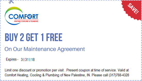 Buy 2 Get 1 Free On Our Maintenance Agreement By Comfort Heating