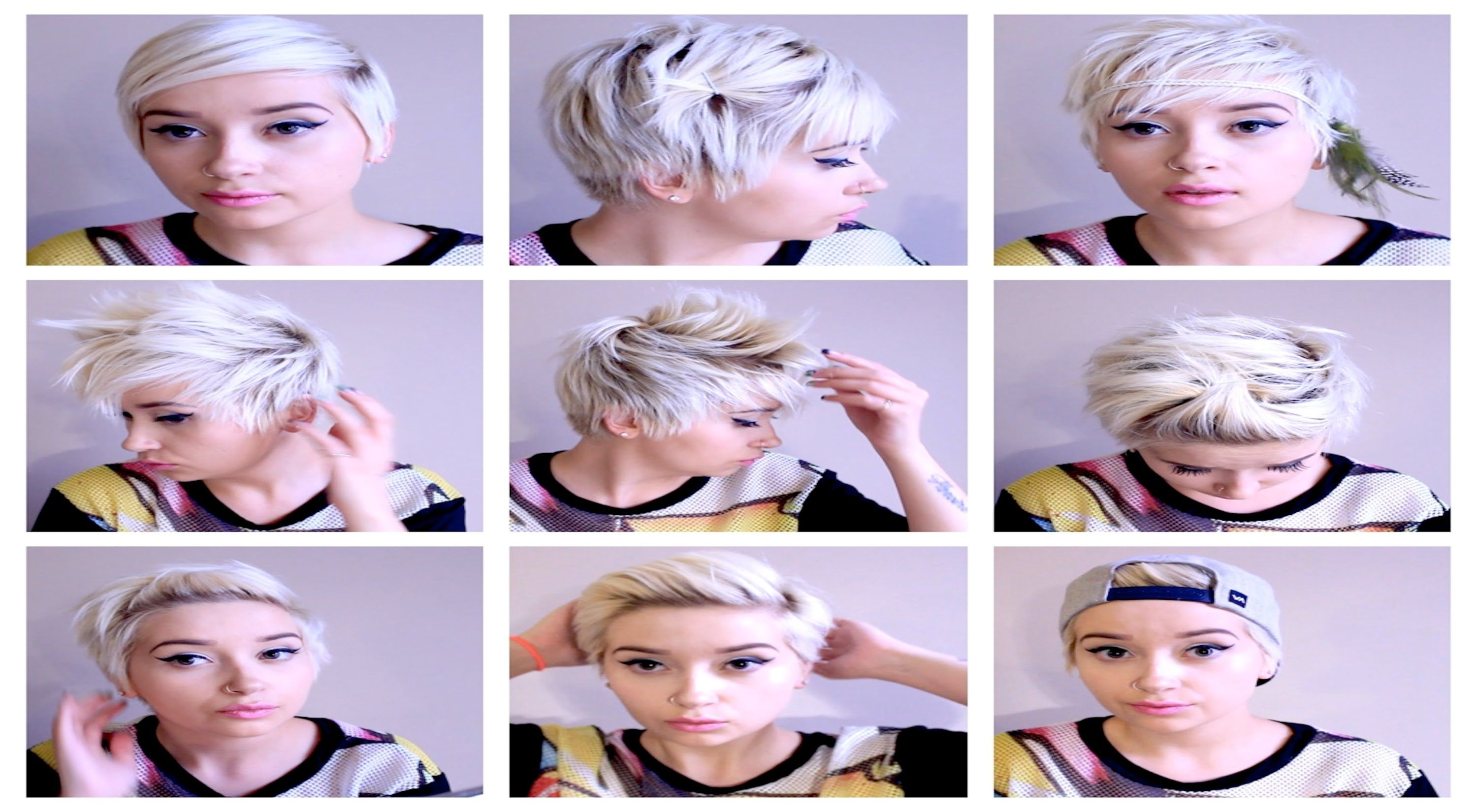 Seven No Heat Pixie Hairstyles Hair Tutorial Pt 3 Pixie Hairstyles Hair Tutorial Short Hair Styles Pixie
