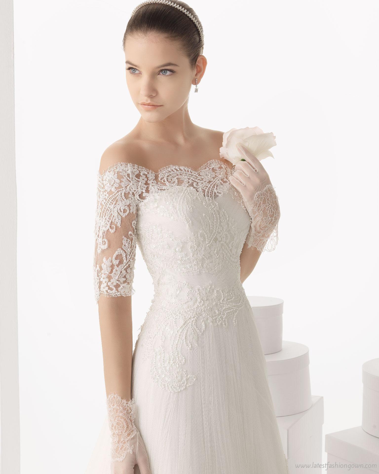 Off-shoulder-lace-rosa-clara-wedding-dress.jpg (1536×1920) | Wedding ...
