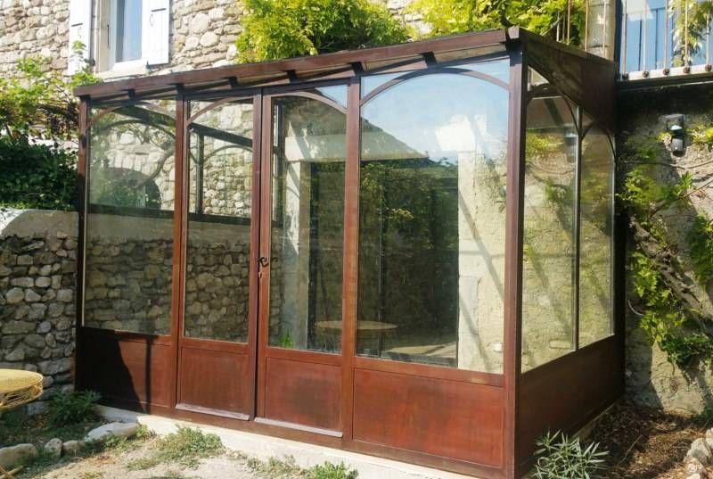 v randa murale sur mesure en fer forg et double vitrage toiture et facades pos e mont limar. Black Bedroom Furniture Sets. Home Design Ideas