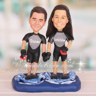 Wedding Scott Would So Pick This Water Skiing Skier Cake Topper Sports Theme