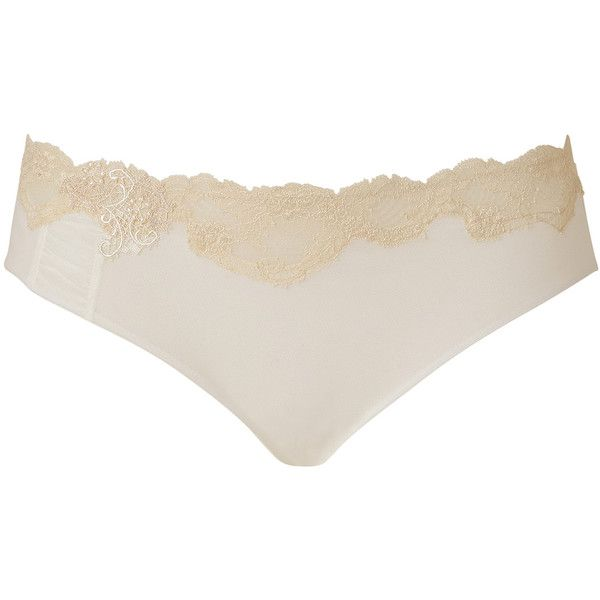 LA PERLA Pearl Mesh and Lace Corsetteria Brief (290 SEK) ❤ liked on Polyvore featuring intimates, panties, lingerie, underwear, sexy, pearl panty, lace lingerie, pearl lingerie, underwear panties and lacy panties