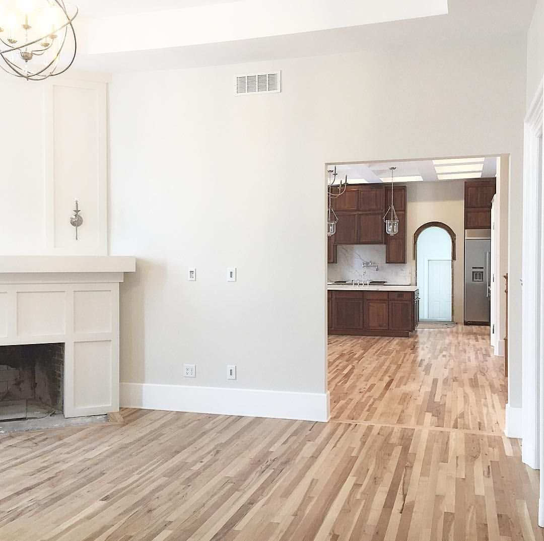 Natural Hickory Floors With Sherwin Williams Pearly White Walls