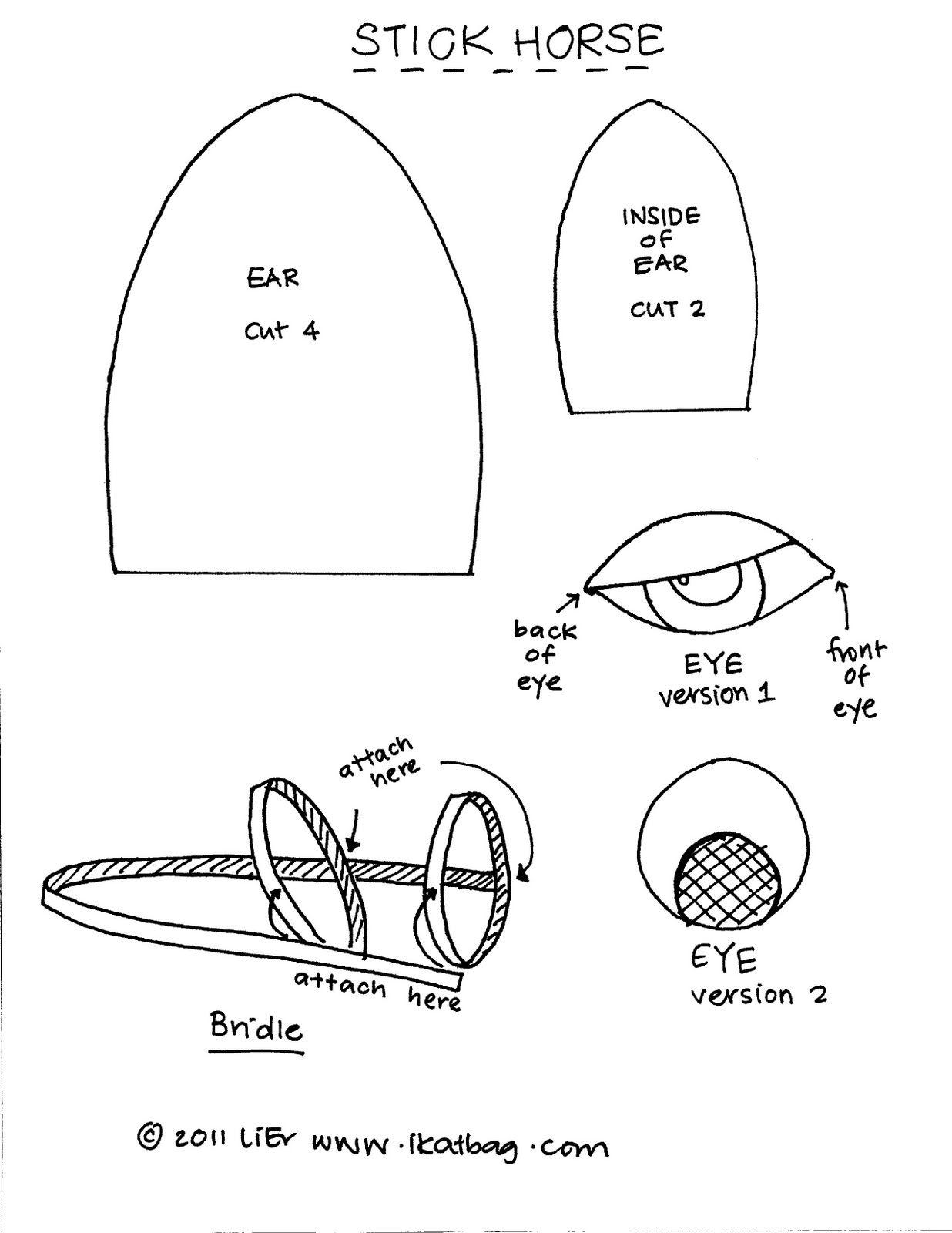 Ikat Bag How To Make A Stick Horse