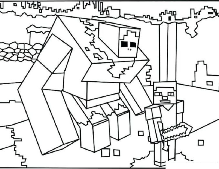 Minecraft Coloring Pages Mutant Zombie Coloring Pages For Kids In