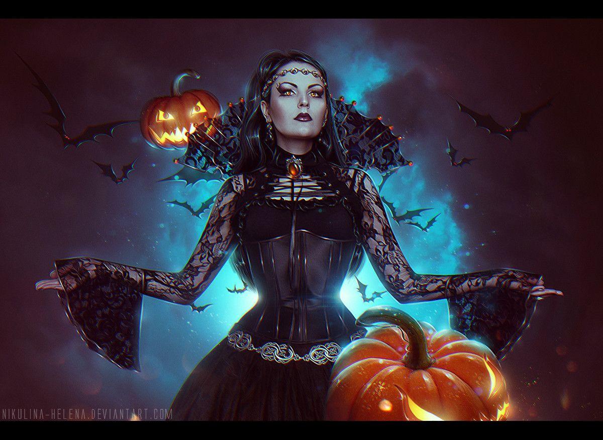 Картинки фэнтези хэллоуин