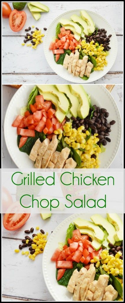 [ad] Grilled Chicken Chop Salad Recipe from Our Thrifty Ideas #SimpleSatisfyingSalads #EverydayEffortless