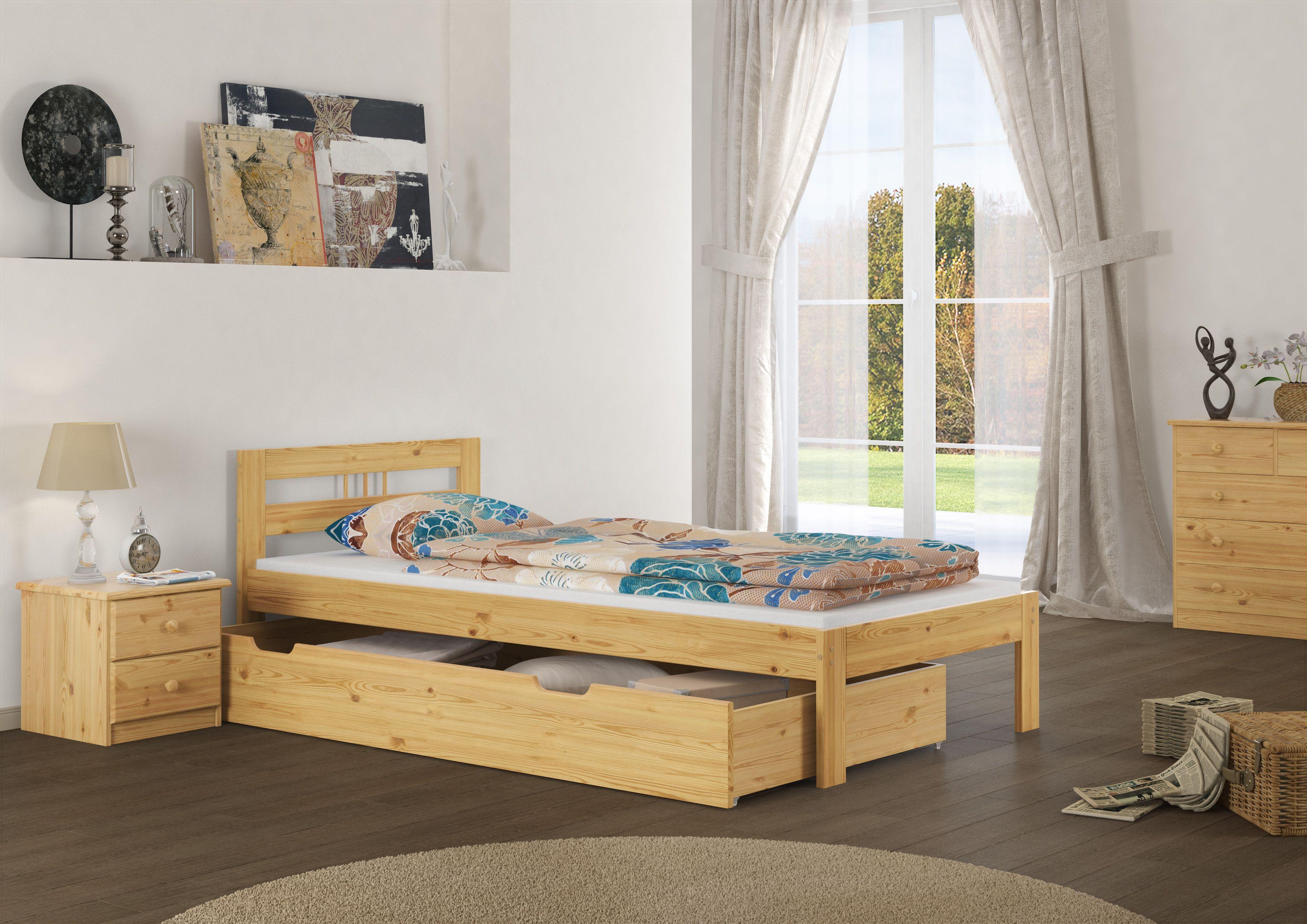 Schones Holzbett Aus Kiefer Gefertigt Einzelbett Bett Ideen Kieferbett