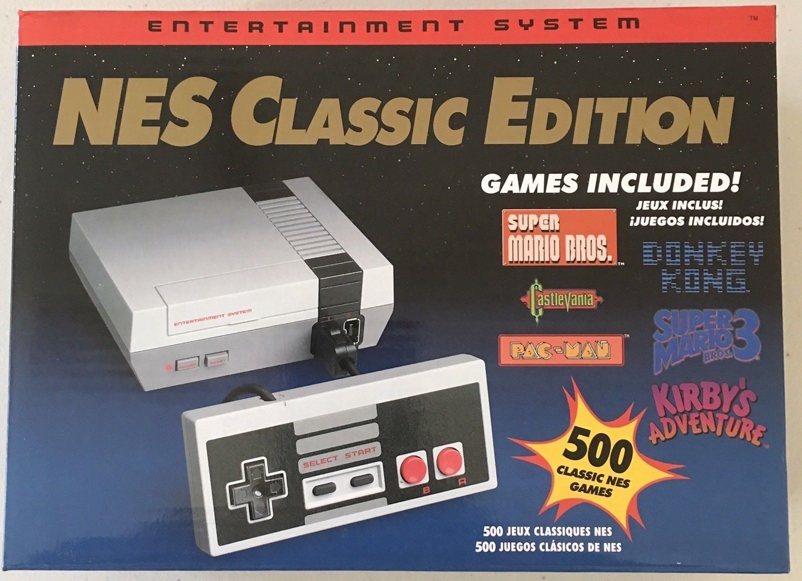 Nes Classic Edition Mini Console 500 Games New Box In Hand Canadian