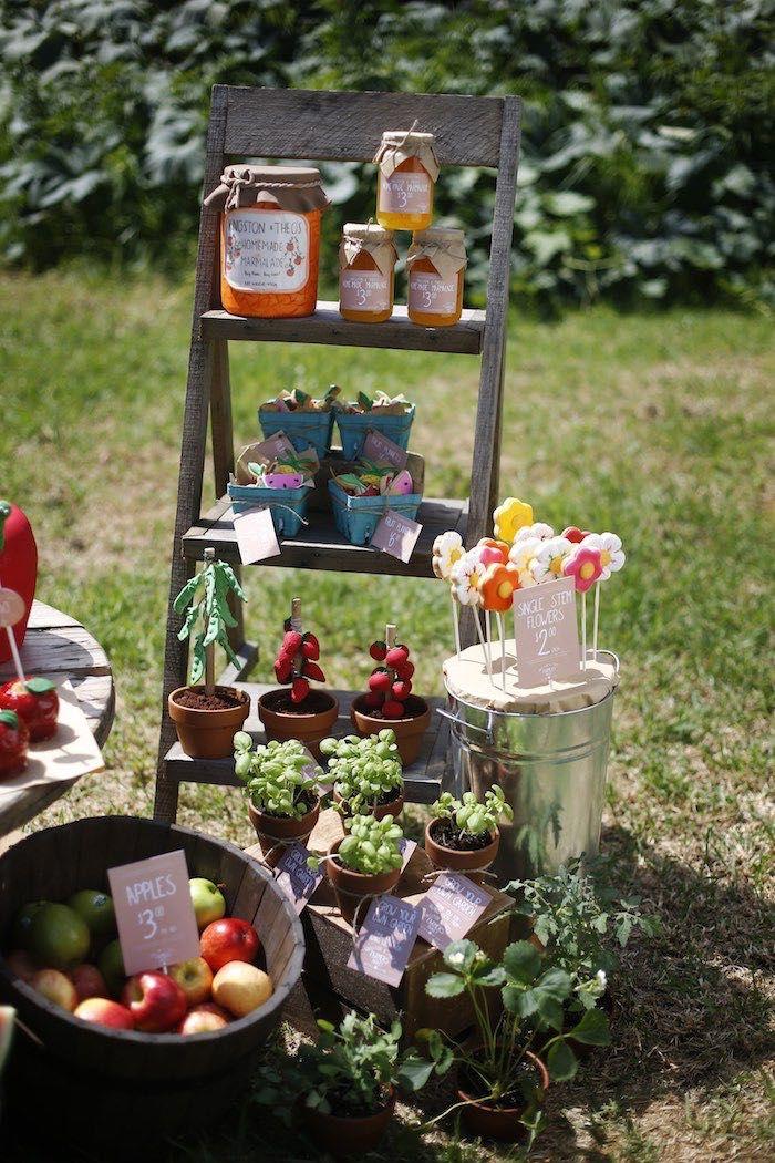 Rústico Agricultores da festa de aniversário Mercado via Idéias do partido de Kara | A Place for All Things Party!  KarasPartyIdeas.com (16)