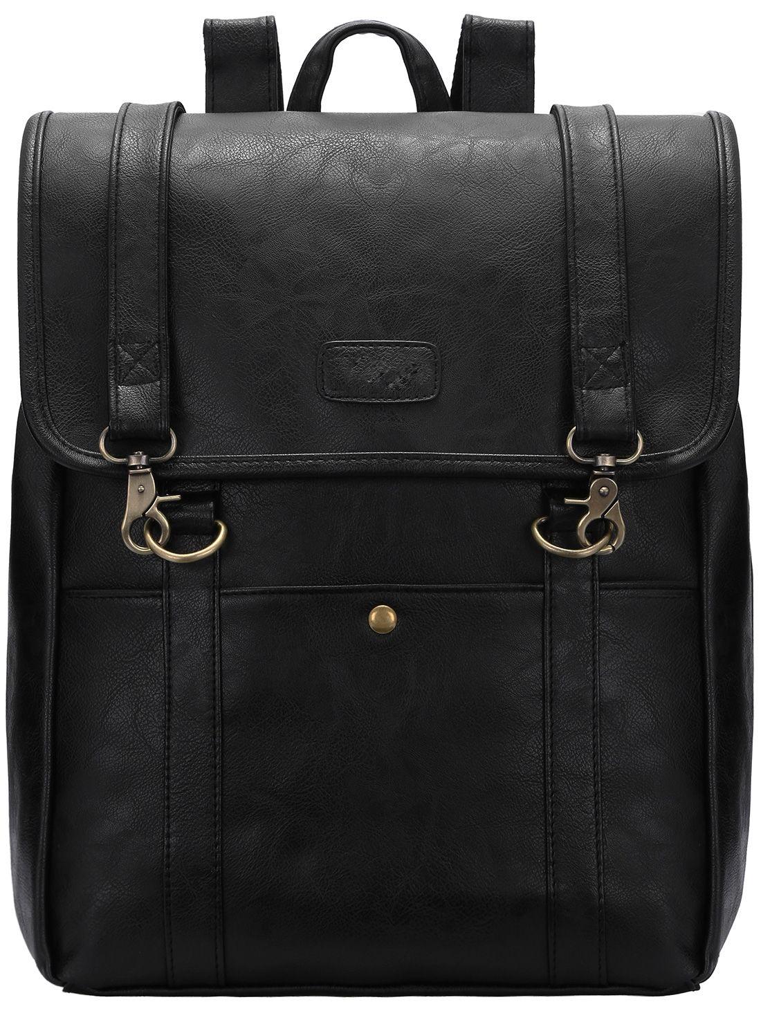 8b3f34257 Shop Black Buckle PU Backpacks online. SheIn offers Black Buckle PU  Backpacks   more to fit your fashionable needs.