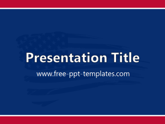 United States Powerpoint Template Is A Blue Template With Red And