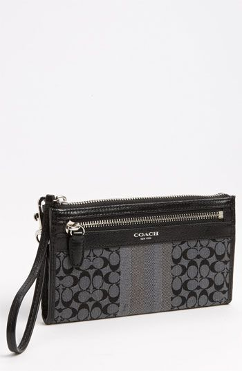 33% OFF COACH 'Signature Stripe - Zippy' Wallet #Wallet #Bags #Wallets