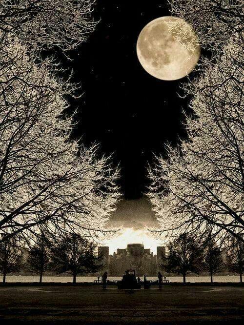 Stunningly beautiful! Winter moon!