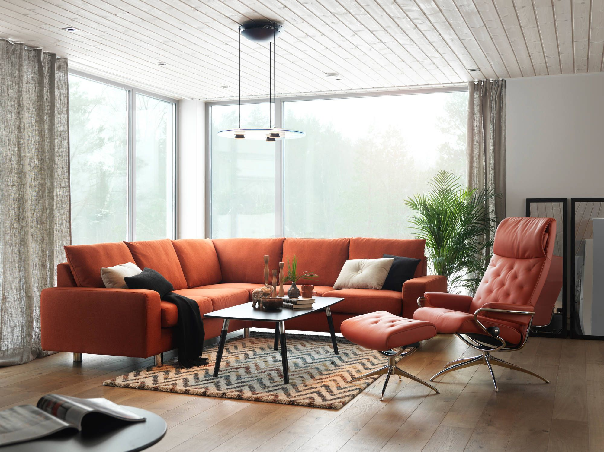 Collectie Prima Lux En Idee Cognac Kleurig Salon Sit Relax  # Meuble Tv Karma