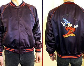 Vintage Mickey Mouse Walt Disney Bomber Jacket HyNKVJ
