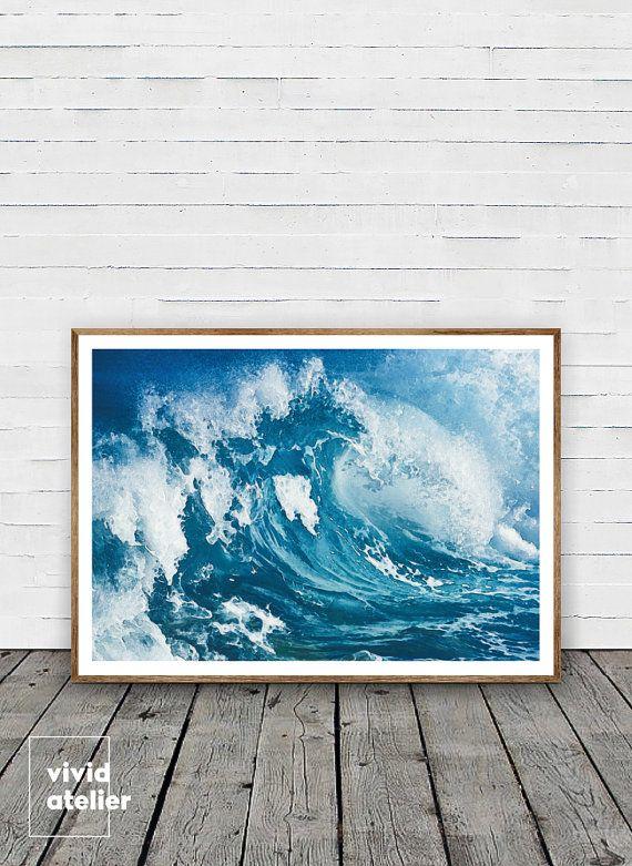 Ocean Print Digital Download Wave Print Wave Art Sea Wall Art