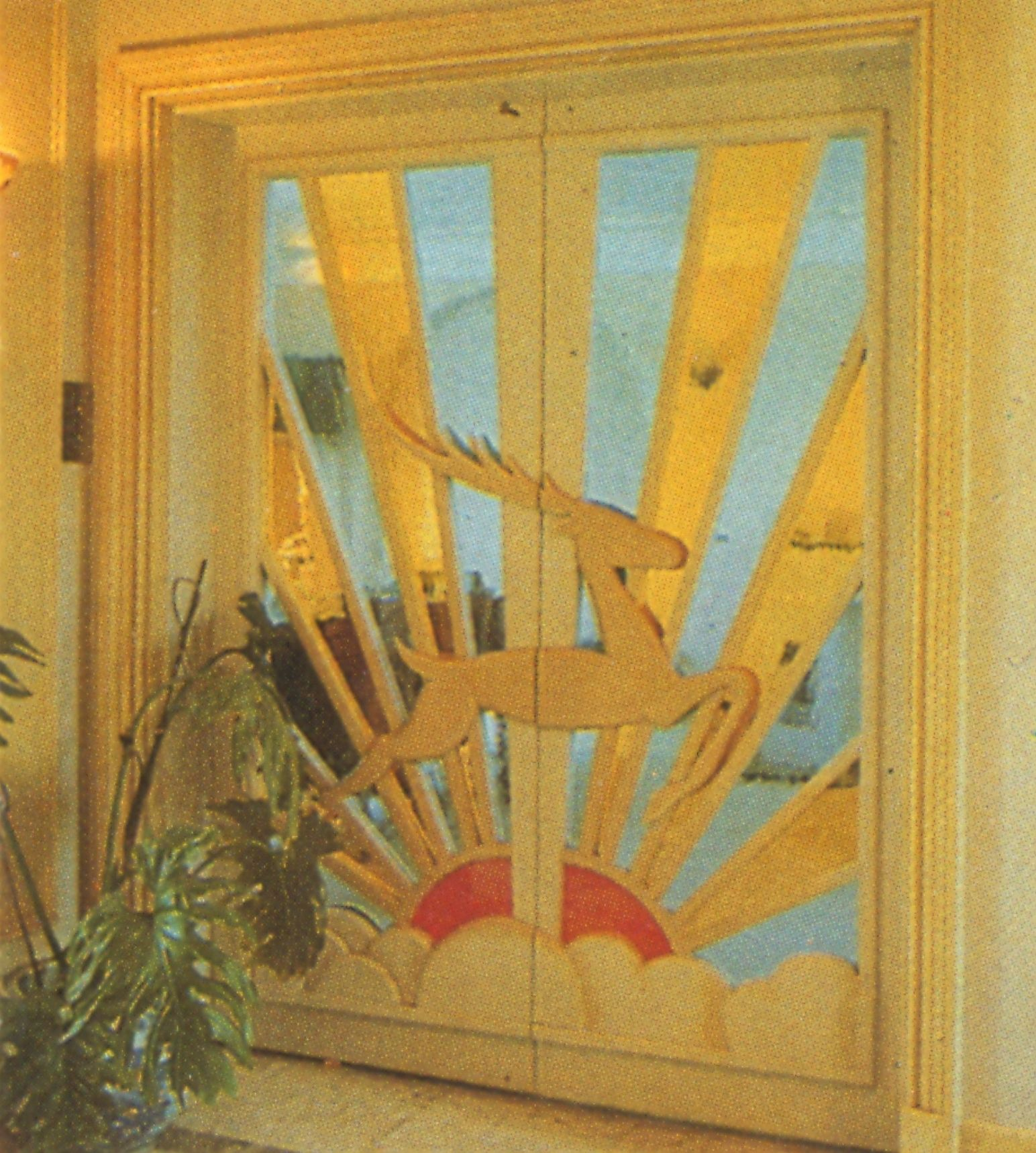 Art Deco Designs: Art Deco Rising Sun Design For A Stained Glass
