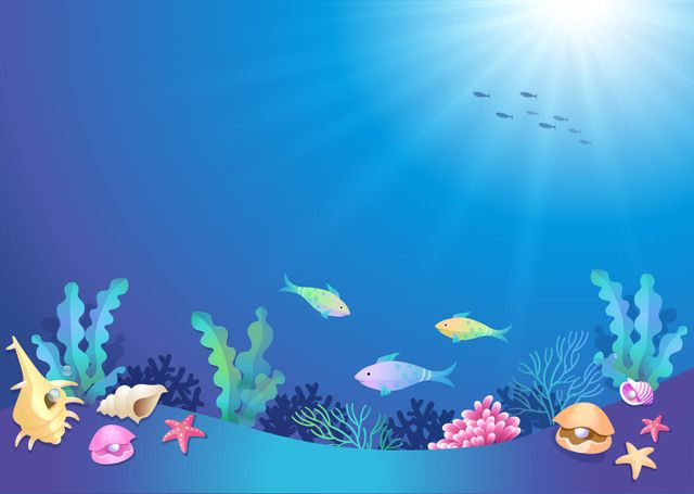 beautiful underwater world cartoon free vector under